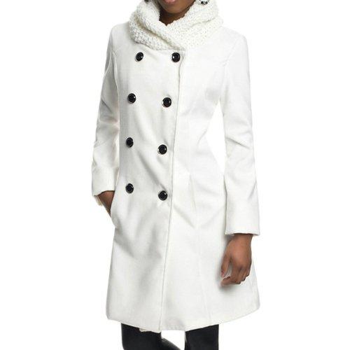 0c53e4ceeced ... Laeticia Dreams Damen Winter Mantel Jacket Stehkragen XS S M L XL.  Angebot!