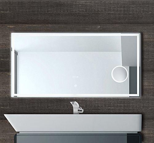 120cm Breit Led Badspiegel Wandspiegel Mit Led Beleuchtung
