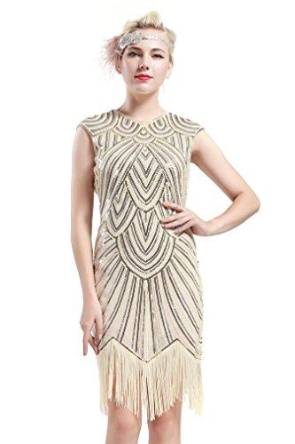 BABEYOND Damen Kleid Retro 1920s Stil Flapper Kleider ...