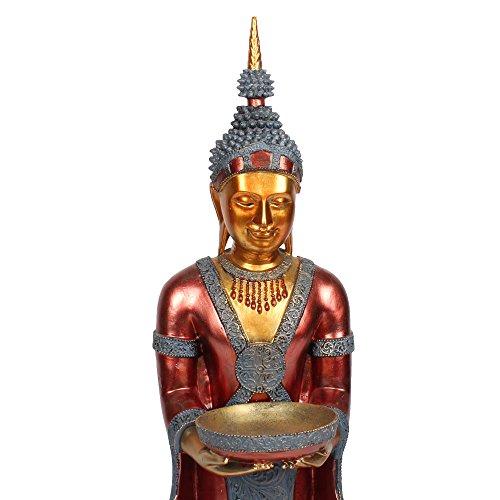 buddha stehend deko figur asien statue skulptur 46cm 90cm gro tempel w chter feng shui farbwahl. Black Bedroom Furniture Sets. Home Design Ideas