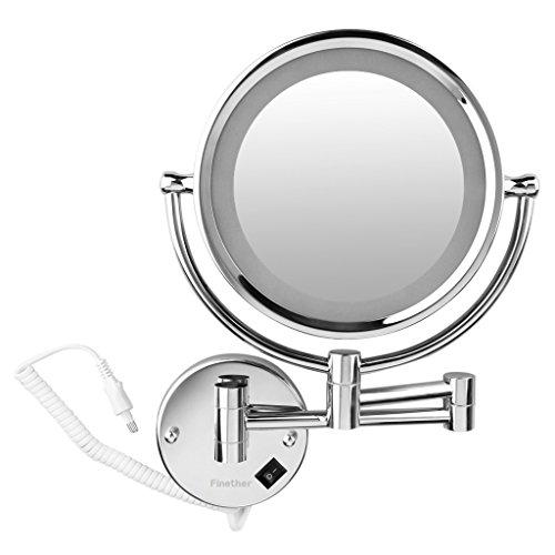 finether beleuchteter kosmetikspiegel mit led licht 360. Black Bedroom Furniture Sets. Home Design Ideas