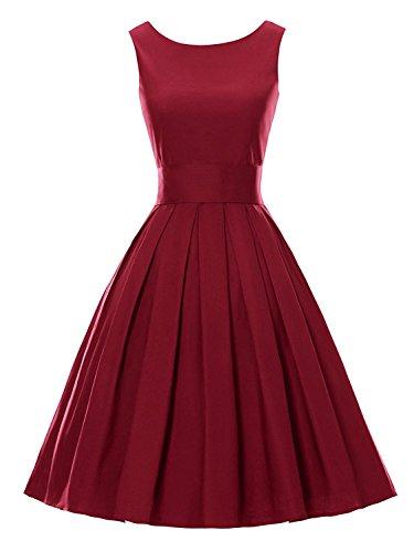 Mr.Shine - Sommer Damen Ohne Arm Kleid Dress Vintage kleid ...