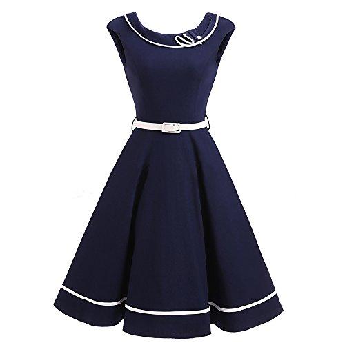 NALATI Sommerkleid Damen Knielang 50er Vintage ...