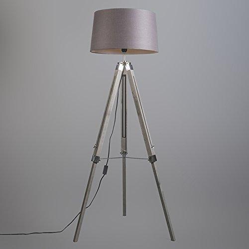 Qazqa Design Retro Stehleuchte Dreifuss Vintage Mit Schirm 45cm