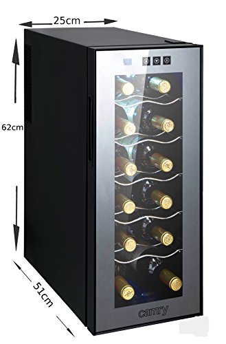 weink hlschrank 33 liter 12 flasche mit glast r led. Black Bedroom Furniture Sets. Home Design Ideas