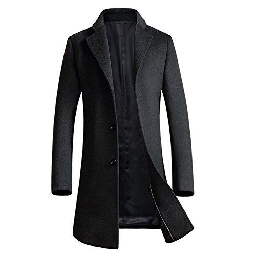 ibaste herren wollmantel elegante wintermantel slim fit. Black Bedroom Furniture Sets. Home Design Ideas